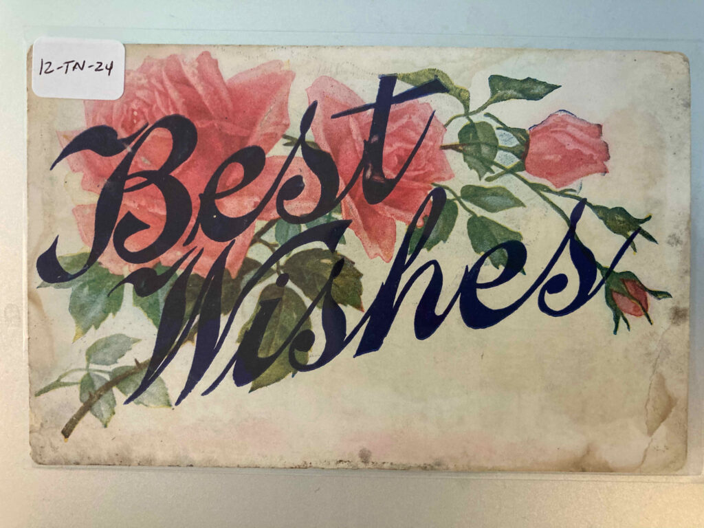 """Roses and the phrase """"Best Wishes"""""""